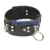 Wholesale Leather Bondage Harness Collar Bdsm Collars Toy Strap On Dog Slave Cosplay PU Sex Restraints