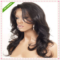 Wholesale Top quality virgin brazilian glueless front lace wig full lace wig remy human hair black woman