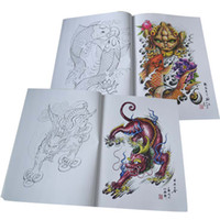 Wholesale Tattoo book Flash new dragon tribe designs works manuscripts Sketch D Art body sketchbook painting kits