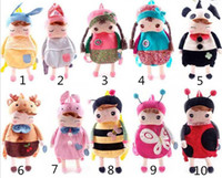 baby animal print fabric - Lovely Baby Angela Doll backpack Children School bags Metoo bags