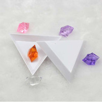 Wholesale Rhinestone box small plastic tray triangle Jewelry plate for DIY tool K07529