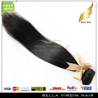 Wholesale 8 quot quot High Grade Brazilian Hair Extensions Remy Hair Weaves Natural Color Hair Weft Bella Hair Extensions Silky Straight A DHL
