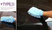 Wholesale EMS sided Microfiber Chenille Mitt Car Wash Glove Cleaning Tool Supply Home Duster Cleaner K07808