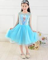 Fashion New Girls Dress Children Princess Dress Children Car...