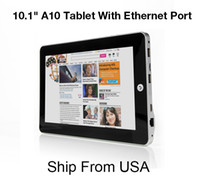 Wholesale Promotion quot Inch Android Allwinner A10 Tablet PC GB G WIFI Camera quot MID Tablet With RJ45 Ethernet Port Ship From USA by UPS