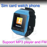 Wholesale Touch Screen GSM Smart Phone Watch mobile phone with Single SIM Support MP3 player FM calculator SMS MMS Recording scene mode alarm