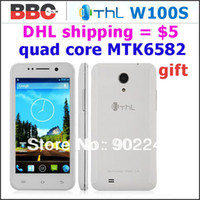 35Phone 4.7 Android IN STOCK 4.5 inch THL W100s Quad Core Phone Android4.2 MTK6582 1.3GHz 1GB RAM 4GB ROM Camera 5.0MP 8.0MP GPS Free Gift 8G card