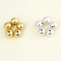 Wholesale 2014New Arrival Unisex Interval Round Metallic Beads45075