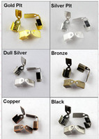 Spacers Chirstmas  YBB Wholesale End Cap for Leather Cord 7x11mm Gold Silver Bronze etc R330