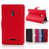 For Nokia Leather  For Nokia XL Case Retro Book Style Wallet Flip PU Leather Case Cover With Credit Card Slots Pouch Hard Plastic inside For Nokia XL