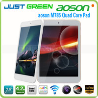 Under $200 Aoson 7.9 inch Android 4.2 Tablet Made in China RK3188 Quad Core 1GB RAM 8GB ROM Front 2MP Back 2MP Dual Cameras HDMI AOSON M785 In Stock