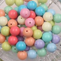 Acrylic, Plastic, Lucite 20mm acrylic beads - New mm Light Mixed Color Chunky Gumball Beads Acrylic Solid Beads Bubblegum for Necklace Jewelry DIY