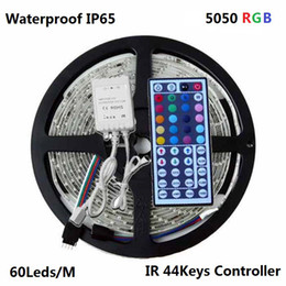 5M 300 5050 SMD Waterproof IP65 RGB Flexible Led Strip Light + 12V RGB Controller + IR 44Keys Remote Control