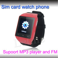 Wholesale NEW GSM Smart phone Watch android Single Sim Touch Screen support MP3 Player FM alarm clock calculator calendar etc factory price