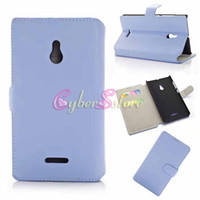 For Nokia Leather  For Nokia XL Case Luxury Retro Candy Color Wallet Flip PU Leather Case Cover With Credit Card Slots Pouch Hard Plastic inside For Nokia XL