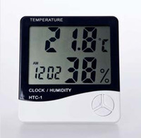 Wholesale Factory Price LCD Digital Temperature amp Humidity Meter Thermometer Hygrometer HTC Clock White K07810