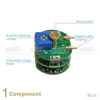 Wholesale Kick VV V Battery Kick Electronic Cigarette Protection Chip For Steady Volts Performance Telescopic style APV Battery Tubes E Cig