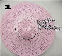 Wholesale Hot Sale Beautiful Summer Melody Women Caps Hats Wide Brim Hats40pcs