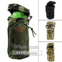 Wholesale Outdoor Tactical Military With Small Mesh Pouch Clip Molle Zipper Utility Water Bottle Bag