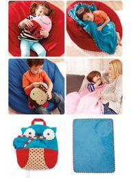 Wholesale Retail Children bathrobe Baby fashion lovely high quality bags blankets cartoon children bathrobe package
