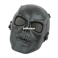 bb gun games - Skull Skeleton Army Airsoft Paintball BB Gun Full Face Game Protect Safe Mask NEW
