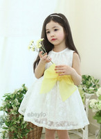 Wholesale 2014girls dresses Princess dress design kids lace dress baby clothes girls party dress D flowers tutu skirt toddler Dresses Smocked dresses