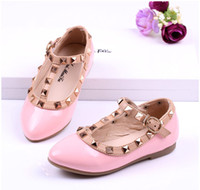 Summer rivet Pointed Toe children valentino shoes for girl rivet T strap children leather shoes for kids dress shoes
