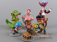 Wholesale Anime Cartoon Jake and The Neverland Pirates PVC Action Figure Toys Dolls set DSFG029