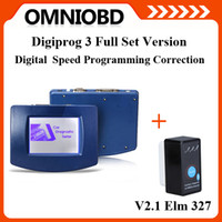Wholesale Newest Version High quality Full Set DigiProg III DigiProg V4 Odometer Programmer Mileage Correction Tool elm327 as gift Fast shipping