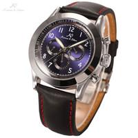 Wholesale New Ks Navigator Series Luxury Vintage Male Clock Automatic Mechanical Hour Mens Leather Strap Watch KS123