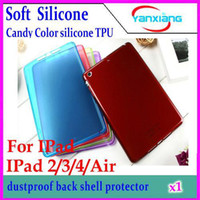 ap tablet - CHPOST Candy Color silicone TPU Tablet PC Cases Soft Back Case For IPad Case For IPad Air IPad Mini Case YX AP