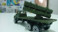 Metal Metal and Plastic HJC8023-4 children toys multiple rocket launcher model armoured fighting vehicle children toys army green color