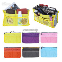 Wholesale 3pcs Lady s Cosmetic Storage Pouch Purse Travel cosmetic bag organizer handbag Colors H9469