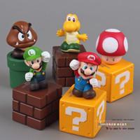 Finished Goods big luigi - Super Mario Bros Mini Figures Bundle Blocks Mario Goomba Luigi Koopa Troopa Mushroom PVC Toys SMFG035