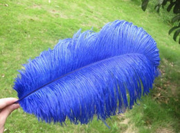 Wholesale -100 pcs lot 14-16inch Royal Blue Ostrich Feather for wedding centerpieces feather centerpiece wedding decor