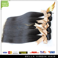 Wholesale Mongolian Virgin Hair Extension Remy Human Hair Extensions Silky Straight Natural Color Human Hair Weft Bella