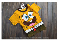 Wholesale New Arrival Summer Children Boys Tshirt Short Sleeve Bikini Bottom Boat Cartoon T Shirt Leisure Pure Cotton Kids Clothes Tees G0213
