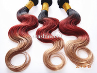 European Hair Body Wave 100% virgin human hair HOT SALES! 10-32 inch high quality virgin brazilian human hair weft ombre color #1b 33 27 100g pc 3pcs lot DHL free shipping