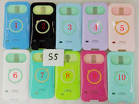 Wholesale i Glow iglow Luminous Noctilucent Ring Stand Phone Cases Cover Shell For Samsung Galaxy S5 i9600