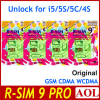 Wholesale Fashion Original R SIM RSIM9 R SIM9 PRO Unlock for iphone s c g s IOS X GSM CDMA WCDMA japan Domoco ATT Verizon UK T mobile