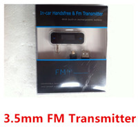 Wholesale mm In car Handsfree Wireless FM Transmitter with Retail box for iPhone S G for iPod MP3 MP4 Nokia Samsung S4 S3