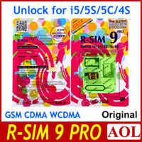 Wholesale Newest R SIM RSIM9 R SIM9 Pro Perfect SIM Unlock Sim Official IOS ios RSIM for iphone S S C GSM CDMA WCDMA g g