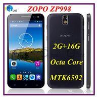 ZOPO ZP998 núcleo C7 MTK6592 Octa androide 5.5inch teléfono inteligente IPS FHD srceen 2G de memoria 16 ROM 1.7GHz 14.0MP 3G GPS NFC OTG giroscopio en stock