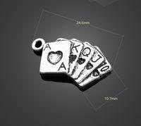achat en gros de cartes à jouer pendentif-13225 vintga jeu charmes de cartes collier boucles d'oreilles pendentifs Components Constatations Charms en alliage de bijoux bricolage