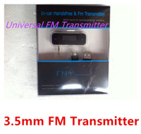 Wholesale mm FM Transmitter In car Handsfree Wireless for iPhone s c S G for iPod MP3 MP4 Nokia Samsung S4 S3 with Retail box