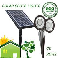 Wholesale 2 led Super Bright Solar spots light sets outdoor