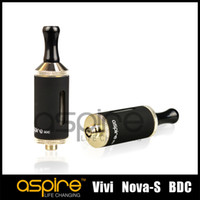 Replaceable 3.5ml Metal Wholesale - Aspire Vivi Nova-S BDC atomizer best Price Aspire Vivi Nova S BDC atomizer bottom dual coil high quality hot selling DHL Free