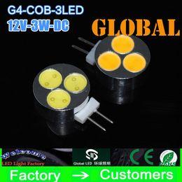 New Arrival 5 piece G4 COB LED Bulb 3W 390 Lumen DC 12V 3leds Led Lamp Corn Bulb High Power Lights & lighting warranty 2 year