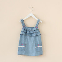 Cheap TuTu princess dress Best Summer A-Line denim skirt