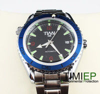 Men's Round 25 Grenn Energy 2013 Blue Ring Mens Mechanical Clock AUTO SS TIMI Brand Wrist Watch X'mas Gift